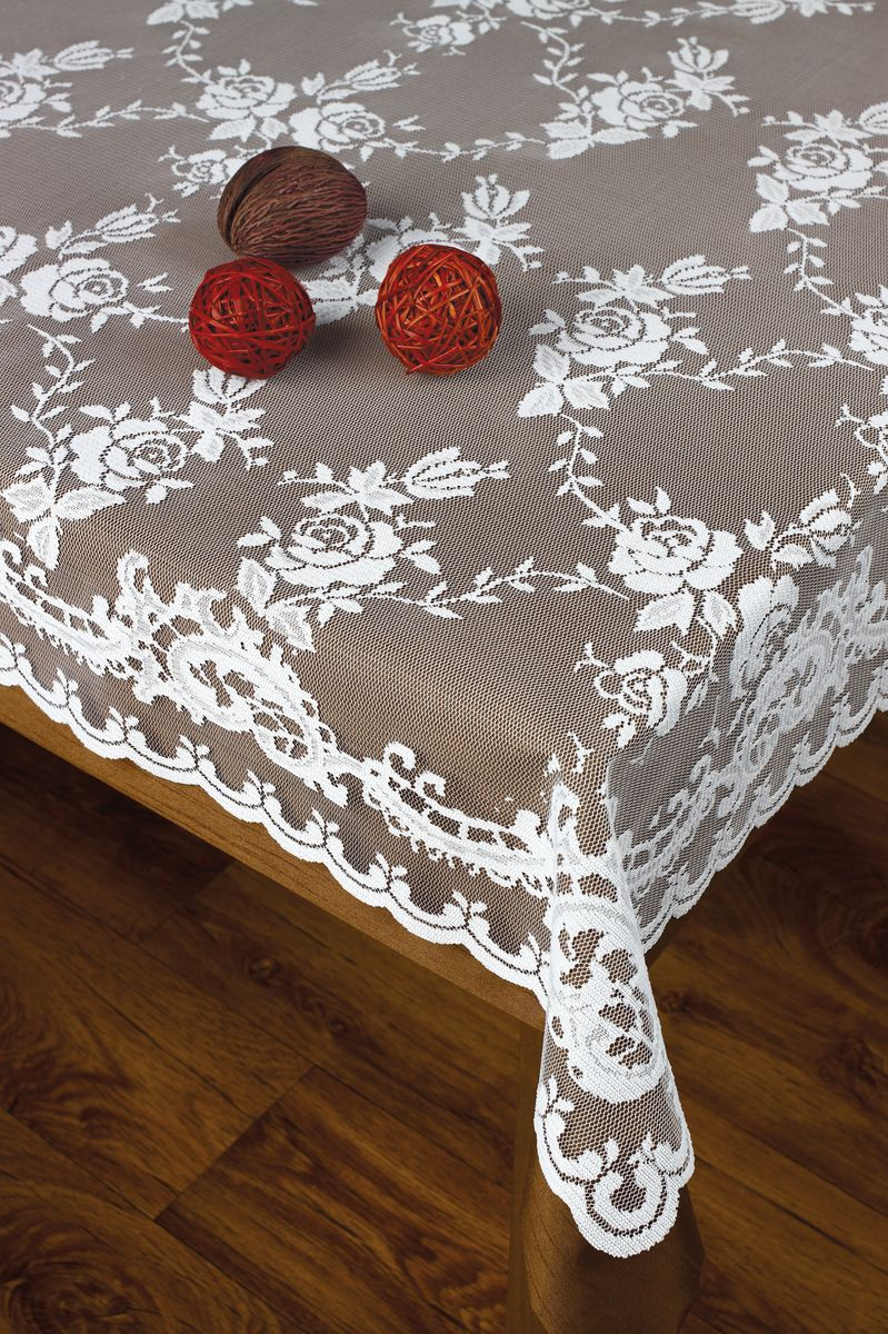 Скатерть Haft, прямоугольная, цвет: белый, 120 х 160 см8986Скатерть выполнена в европейском стиле, жаккардовое плетение.
