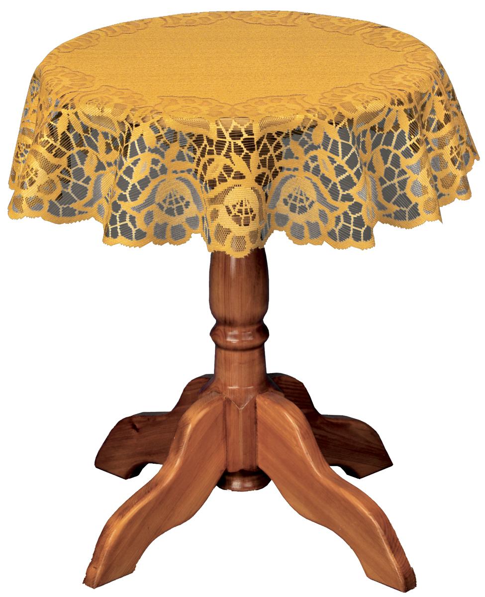 Скатерть Haft, круглая, цвет: бронзовый, диаметр 120 смBH-UN0502( R)Скатерть выполнена в европейском стиле, жаккардовое плетение.