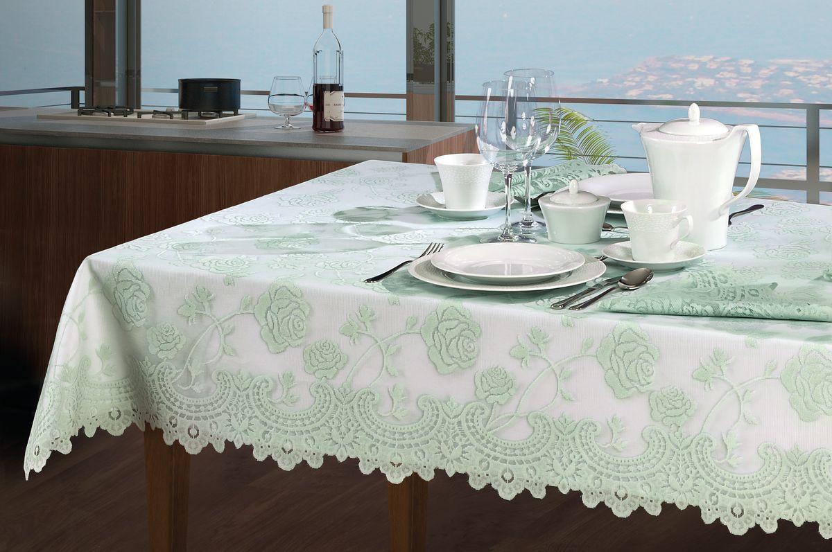 Скатерть Wisan, прямоугольная, с накладкой, 130 х 170 см, 120 х 160 см коврик домашний sunstep цвет кремовый 120 х 170 х 4 см