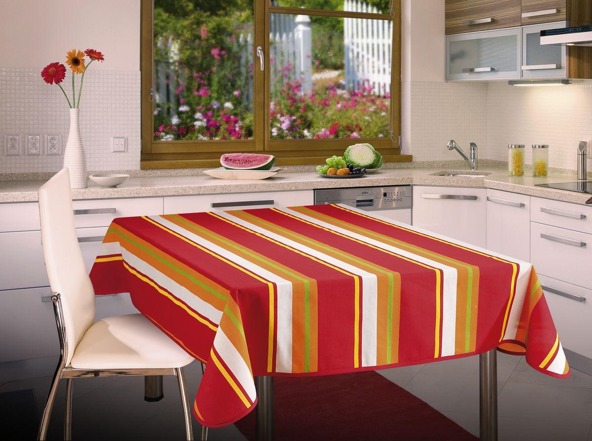 Скатерть Wisan, прямоугольная, цвет: красный, 130 х 160 см42761Скатерть выполнена в европейском стиле,ткань плотная.