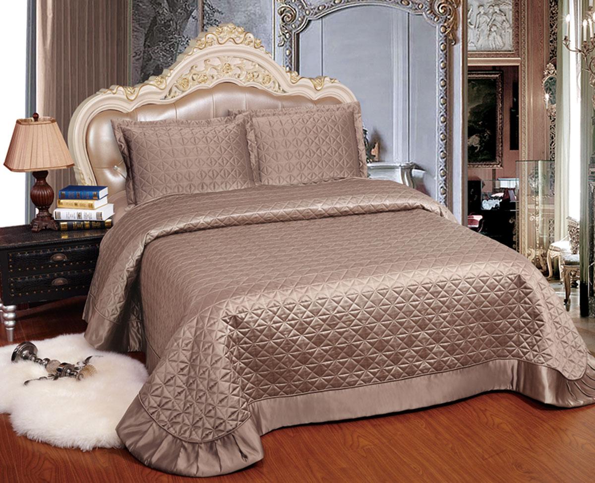 Комплект для спальни Arya Adreanna: покрывало 250 х 260 см, 2 наволочки 50 х 75 см, цвет: верблюжий69487Комплект для спальни Arya состоит из покрывала и двух наволочек. В коллекции используется самый износостойкий материал - полиэстер. Он выдерживает многократные стирки, сохраняет форму и цвет, не изнашивается. Ваша спальня будет всегда стильной и индивидуальной. Советы по уходу:- Эта ткань устойчива к машинной стирке в холодной воде.- Стирать вещи из полиэстера следует только со светлыми вещами.- Не рекомендуется отбеливать.- Гладить утюгом, регулятор которого установлен на минимум.