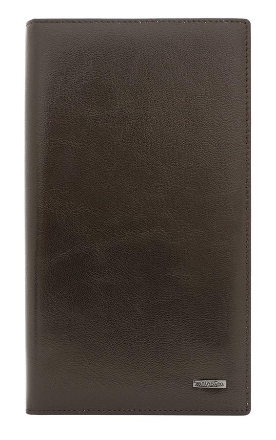 Визитница мужская Malgrado, цвет: темно-коричневый. 80001-5402DINT-06501Стильная и строгая визитница из натуральной кожи с матовым рисунком Malgrado. Визитница рассчитана на 96 карточек, имеет 16 листов и 48 кармашков. Странички выполнены из матового материала, и поэтому не слипаются. А также они пришиты блоком к самому телу визитницы. Обложка визитницы с внутренней стороны с двух сторон имеет прозрачные кармашки.