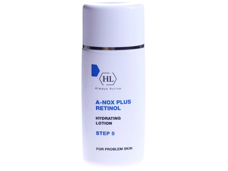 Holy Land Увлажняющий лосьон A-Nox Plus Retinol Hydrating Lotion, 60 мл175044Нежная увлажняющая эмульсия, содержащая смягчающие, противовоспалительные и антисептические компоненты и ретинол. Предотвращает сухость и шелушение кожи. Уменьшает жирный блеск и препятствует образованию комедонов. Применяется как лёгкий универсальный крем. Активные компоненты: сквален, молочная кислота, ретинол.