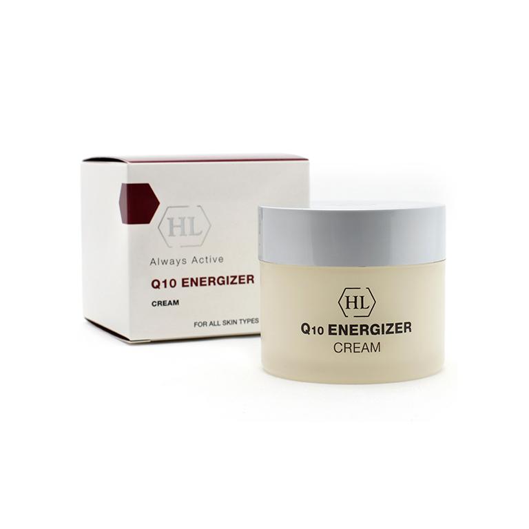Holy Land Крем для лица Coenzyme Energizer Cream, 50 мл68026Питательный и увлажняющий крем для использования в любое время суток. Содержит 7% убихинона и солнцезащитный фильтр (SPF 12).Действие:Питает и увлажняет кожу.Устраняет сухость и шелушение.Стимулирует процессы регенерации эпидермиса.Разглаживает кожу, придает ей эластичность и бархатистость.Профилактика и замедление процесса старения.Антиоксидантная защита.Активные компоненты: Сквален, убихинон, гиалуроновая кислота, масло бурачника, токоферола ацетат (витамин Е), витамин Н (биотин), пантенол, бензофенон-3 (UVB-фильтр), октилметоксициннамат (UVА-фильтр).