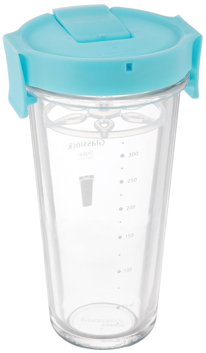Шейкер Glasslock, цвет: прозрачный, голубой, 450 млТДД25444Шейкер Glasslock, изготовленный из высококачественного стекла, выполнен в виде стаканчика. Герметичная крышка снабжена закрывающимся отверстием для питья, в которое также можно вставить трубочку. Сбоку расположена шкала с мерными делениями. Шейкер предназначен для приготовления холодных напитков и идеально подходит для того, чтобы взять с собой в дорогу воду, морс, смузи, шейк. Вы любитель коктейлей, но времени сходить в бар у вас нет? Не расстраивайтесь. С помощью этого шейкера вы сможете приготовить самый экзотический смешанный напиток у себя дома, чем приятно удивите гостей, родных и близких вам людей. Почувствуйте себя профессиональным барменом! Диаметр шейкера (по верхнему краю): 8,8 см.Диаметр основания шейкера: 5,5 см.Высота шейкера (с учетом крышки): 17 см.