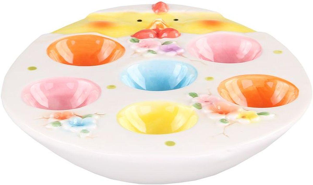 Тарелка для 6-ти яиц 21*17*35 см PATRICIAVT-1520(SR)Тарелка для яиц выполнена и керамики. С помощью этого изделия вы сможете подать яйца и украсить стол одновременно.