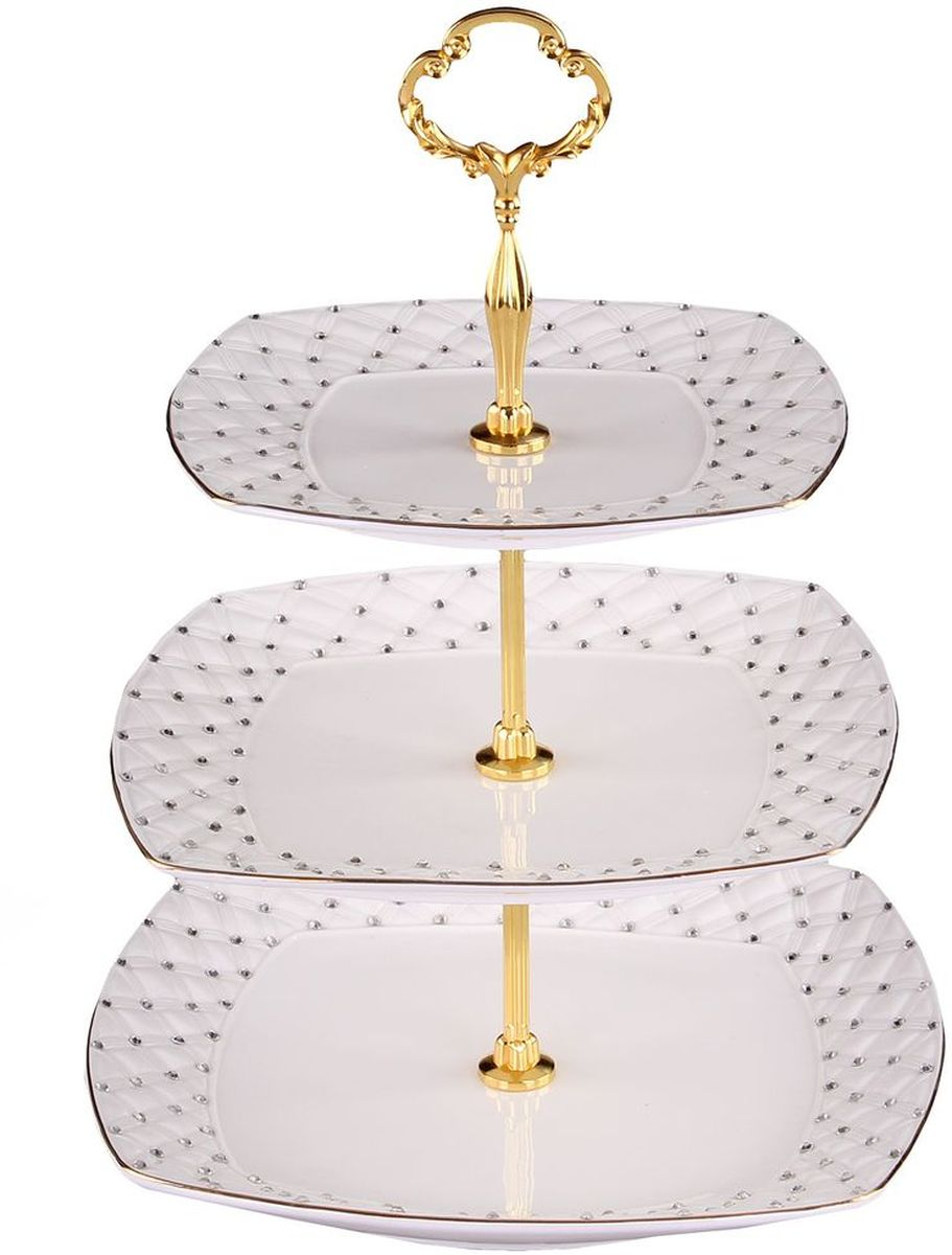 Этажерка 3-ёх ярусная 19*21*25 см PATRICIA115510Эта этажерка прекрасно подойдет для сервировки вашего стола сладостями или небольшими закусками.