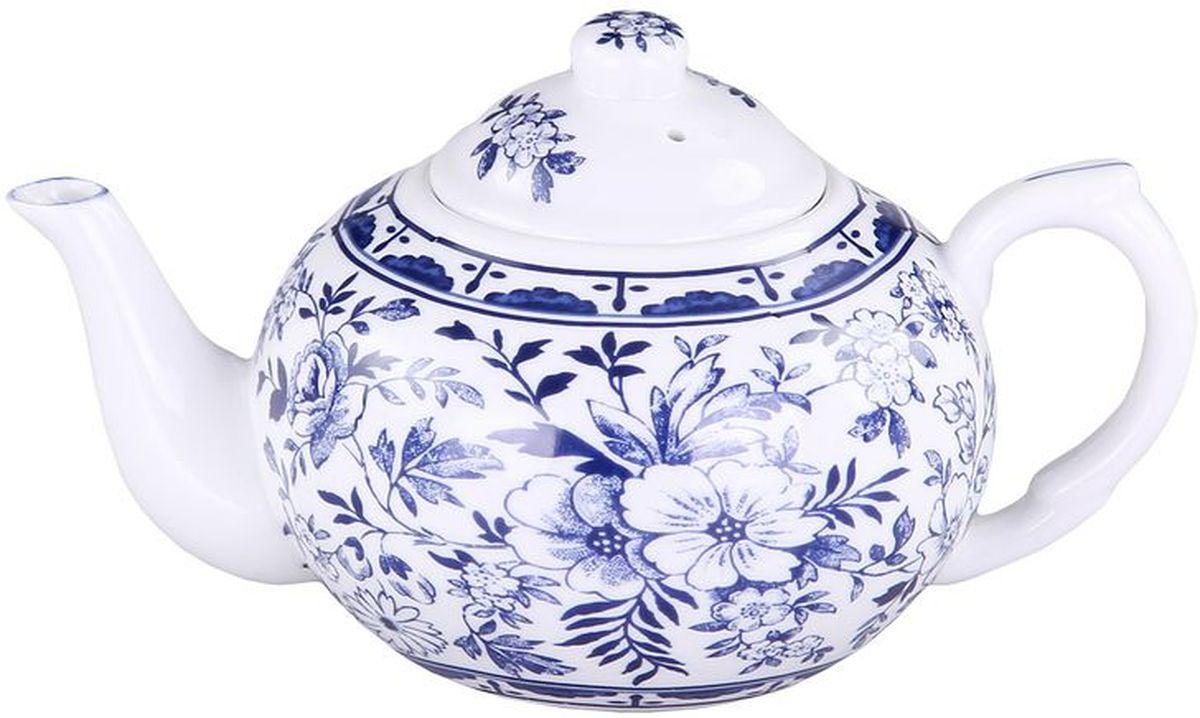Чайник заварочный Patricia Флер, с фильтром, 400 мл115510Заварочный чайник Patricia Флер изготовлен из высококачественного фарфора с гладким глазурованным покрытием. Изделие декорировано ярким цветочным рисунком. Чайник снабжен съемным металлическим фильтром и удобной ручкой. В основании носика расположены фильтрующие отверстия от попадания чаинок в чашку. Любой чай в таком изысканном чайнике станет для вас наслаждением, поводом отдохнуть и перевести дыхание. Он прекрасно украсит сервировку стола к чаепитию. Благодаря красивому утонченному дизайну и качеству исполнения он станет хорошим подарком друзьям и близким. Не рекомендуется мыть в посудомоечной машине и использовать в микроволновой печи. Диаметр (по верхнему краю): 6 см. Внутренний диаметр: 4,5 см.Высота чайника (без учета крышки): 7 см. Высота фильтра: 4,5 см.