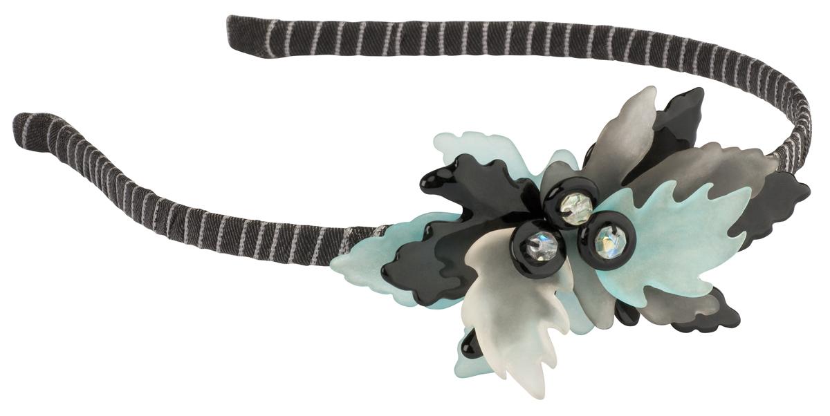 Ободок для волос Lalo Treasures Autumn, цвет: серый, черный. HR4572Серьги с подвескамиЯркий дизайнерский ободок для волос Lalo Treasures станет отличным дополнением к вашему стилю. Ободок изготовлен изкачественной ювелирной смолы, металлического сплава и текстиля. Декоративная часть ободка изготовлена в виде нескольких лепестков разного цвета.Ободок очень удобен при ношении, благодаря мягкому текстильному покрытию.Оригинальный дизайн позволит вашему образу быть ещё ярче.