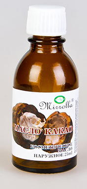 Масло Какао 25мл086-07-35902Масло какао замечательно питает, увлажняет, смягчает, оживляет, и тонизирует кожу, делает ее более нежной, гладкой и сияющей; обладает разглаживающими свойствами; отлично подходит для ухода за кожей вокруг глаз; ускоряет процесс восстановления поврежденных клеток кожи.