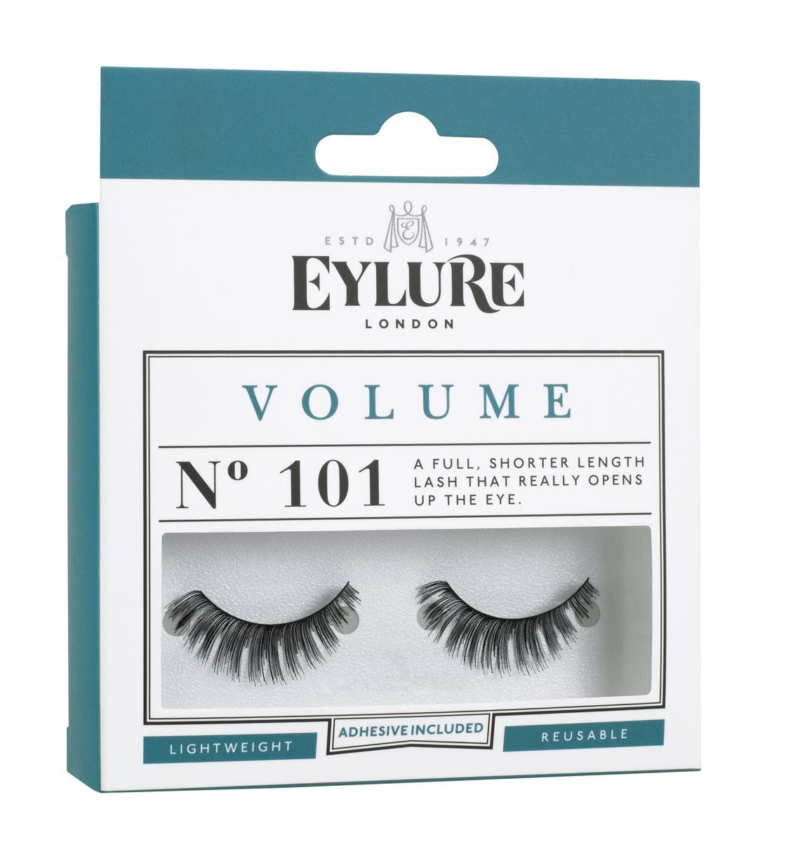 Eylure Накладные ресницы объемные №101 Strip Lashes -VOLUME №101Satin Hair 7 BR730MNНакладные ресницы из натурального волоса для создания эффекта объема. В набор входит прозрачный клей для накладных ресниц Lashfix Clear.