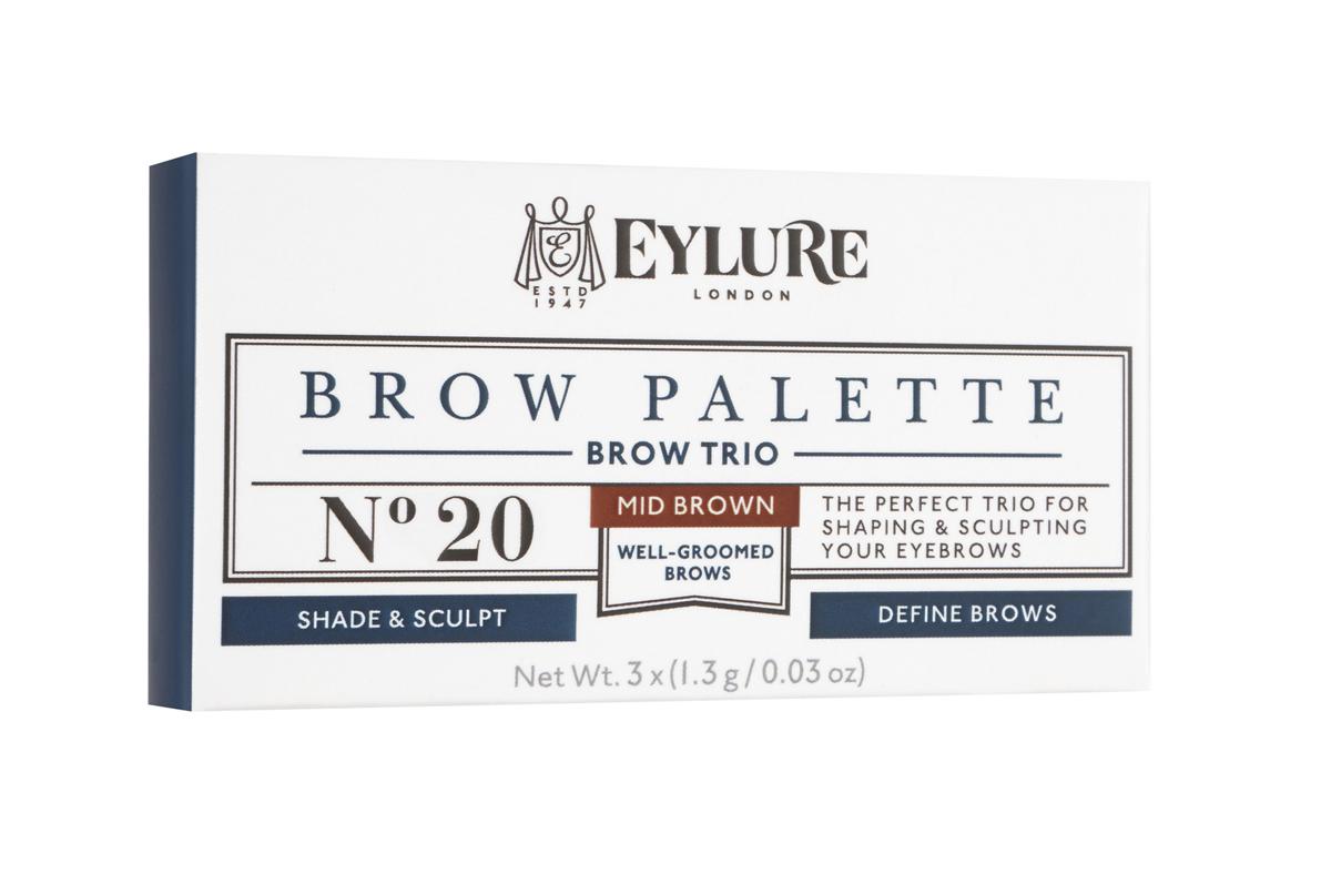 Eylure Палетка для моделирования бровей 20 Brow Palette - Коричневая 3*3 гр374.55Набор для моделирования бровей для создания формы, цвета и выразительности.В составе теней витамины A и C, антиоксидант витамин E и силиконовый флюид, которые придают гладкость при нанесении. Воск придает устойчивость и водостойкий эффект, а розмарин и масло сладкого миндаля в составе воска увлажняют и ухаживают за бровями. Моделирование: зафиксируйте форму бровей с помощью воскаЦвет: с помощью интенсивно пигментированных тенейВыделение: подчеркните брови с помощью хайлайтераВ комплекте: Тени для бровей, моделирующий воск, хайлайтер и аппликатор. Объем: 3 Х 3 г