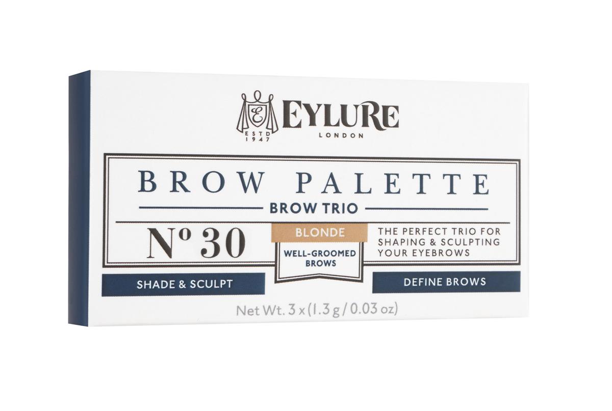 Eylure Палетка для моделирования бровей 30 Brow Palette - Blonde Светлая 3*3 гр28032022Набор для моделирования бровей для создания формы, цвета и выразительности.В составе теней витамины A и C, антиоксидант витамин E и силиконовый флюид, которые придают гладкость при нанесении. Воск придает устойчивость и водостойкий эффект, а розмарин и масло сладкого миндаля в составе воска увлажняют и ухаживают за бровями. Моделирование: зафиксируйте форму бровей с помощью воскаЦвет: с помощью интенсивно пигментированных тенейВыделение: подчеркните брови с помощью хайлайтераВ комплекте: Тени для бровей, моделирующий воск, хайлайтер и аппликатор. Объем: 3 Х 3 г