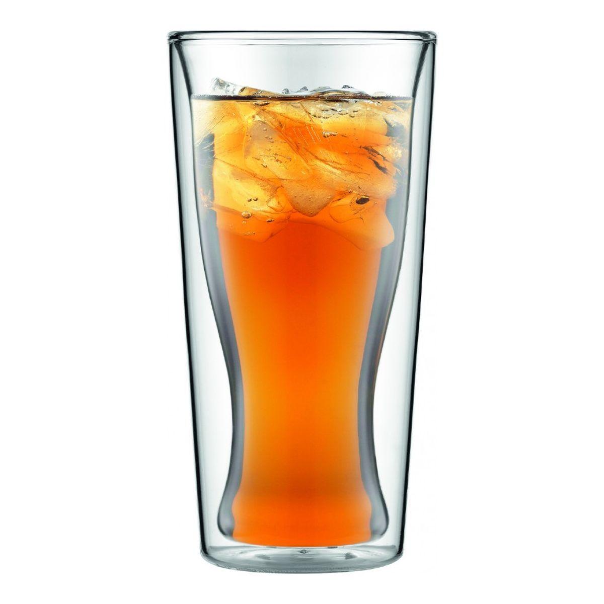 Набор термобокалов Bodum Skal, 2 шт, 350 млVT-1520(SR)Термобокалы Bodum Skal обладают уникальной конструктивной особенностью – между их контурами находится воздух, который сохраняет температуру напитка. Набор бокалов изготовлен из боросиликатного стекла, отличающегося особой прочностью и жаростойкостью. Благодаря своим неповторимым свойствам термобокалы Bodum Skal можно мыть в посудомоечной машине, не опасаясь за их целостность даже при контакте с горячей водой.