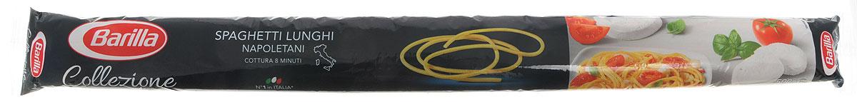 Barilla Long Spaghetti паста длинные спагетти, 500 г8076808180055Изначально Спагетти были намного длиннее и только спустя время они были укорочены до современного стандарта - 25 см. Длина Спагетти Лунги составляет 50 см. Barilla возобновила производство этого эксклюзивного формата пасты в рамках линии La Collezione Barilla, ведь любовь к пасте заключает в себе и стремление возрождать лучшие традиции прошлых лет.Нестандартная длина Спагетти Лунги требует и нестандартного подхода к их приготовлению: фантазируйте и экспериментируйте сами или же используйте советы и рецепты итальянских шеф-поваров - Спагетти Лунги подарят вам истинное наслаждение вкусом и ароматами средиземноморской кухни.Спагетти Лунги лучше всего раскрывают свой вкус с легкими изысканными соусами на основе рыбы или овощей. Barilla рекомендует вам попробовать Спагетти Лунги с соусом из кальмаров, помидоров, базилика и белого вина. Большой популярностью в Неаполе пользуется также рецепт Спагетти Лунги со свежими помидорами, анчоусами и оливковым маслом – оригинальное и быстрое в приготовлении блюдо порадует всю семью.