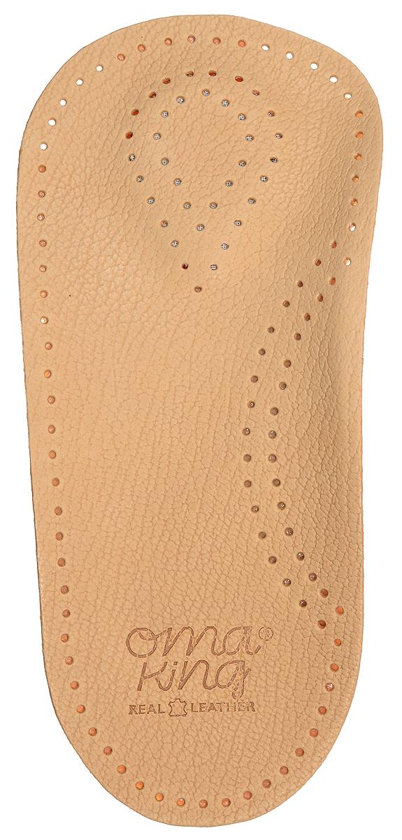 Стелька OmaKing, профилактическая, цвет: бежевый, 2 шт. T420-41. Размер 40/41AM-INSO-4Анатомическая полустелька изготовлена из кожи, с применением растительных веществ. Стелька оснащена специальной подушечкой в области опоры стопы, укреплён свод стопы и смягчена пятка стопы. Полустелька удерживает стопу ноги в анатомически правильном положении, благодаря чему ваши ноги меньше устают.