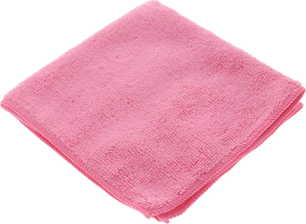 Салфетка для уборки Sol из микрофибры, цвет: розовый, 30 x 30 см238000Салфетка Soll выполнена из микрофибры. Микрофибра - это ткань из тонких микроволокон, которая эффективно очищает поверхности благодаря капиллярному эффекту между ними. Такая салфетка может использоваться как для сухой, так и для влажной уборки. Деликатно очищает любые поверхности не оставляя следов и разводов. Идеально подходит для протирки полированной мебели. Сохраняет свои свойства после стирки. Рекомендации по применению и уходу: Для обеспечения гигиеничности рекомендуется прополаскивать салфетку после каждого применения с моющим средством. Для сохранения мягкости не рекомендуется сушить вблизи отопительных приборов и на батареях. Нельзя стирать с отбеливающими средствами, кипятить и гладить.