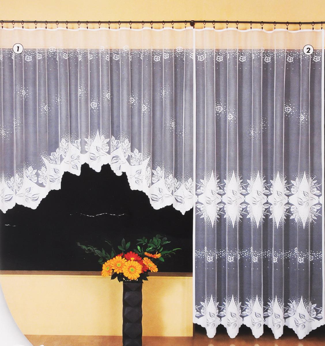 Гардина Wisan Katarzyna, цвет: белый, высота 250 см. 948210503Гардина Wisan Katarzyna, изготовленная из полиэстера, станет великолепным украшением любого окна. Изделие, оформленное цветочным рисунком, привлечет к себе внимание и органично впишется в интерьер комнаты. Оригинальное оформление гардины внесет разнообразие и подарит заряд положительного настроения.Гардина крепится при помощи зажимов для штор (не входят в комплект).