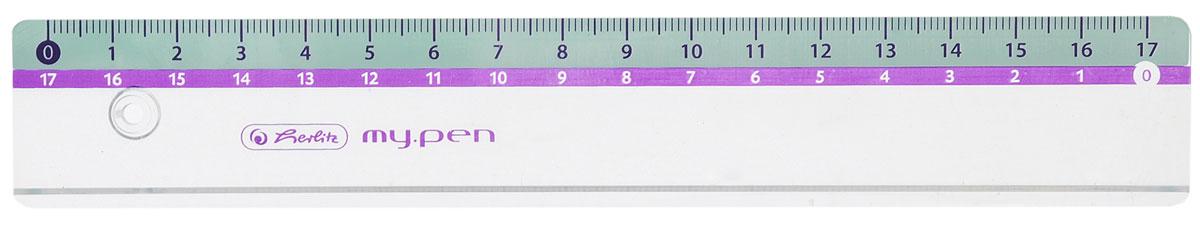 Herlitz Линейка My Pen цвет голубой 17 см279410_салатовыйЛинейка Herlitz My Pen с делениями на 17 см выполнена из прочного пластика, обладает четкой миллиметровой шкалой делений. Линейка удобна для измерения длины и черчения. Подходит для правшей и левшей.