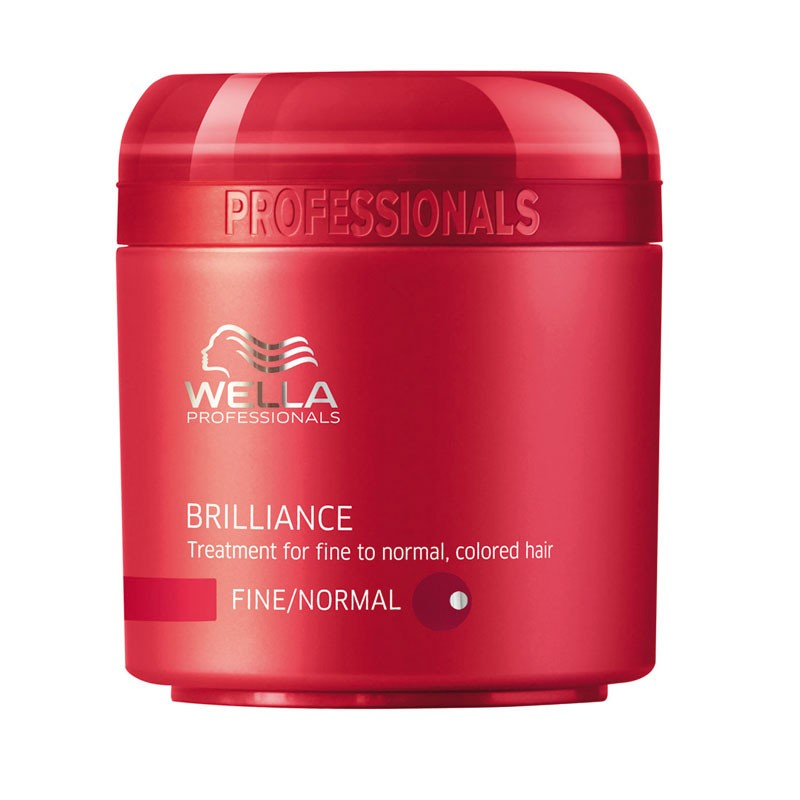 Wella Крем-маска Brilliance Line для окрашенных нормальных и тонких волос, 150 мл81308261Крем-маска Wella для окрашенных нормальных и тонких волос имеет в своем составе уникальную бриллиантовую пыльцу, которая придаст вашим локонам естественное сияние и ухоженный внешний вид. Крем-маска отлично защищает волосы от негативного воздействия окружающей среды, делает их более шелковистыми и мягкими, поддерживает естественный уровень рН и насыщает питательными веществами, а также стимулирует рост каждого волоска, успокаивает кожу головы.Как результат, ваши волосы станут более яркими, блестящими и послушными.
