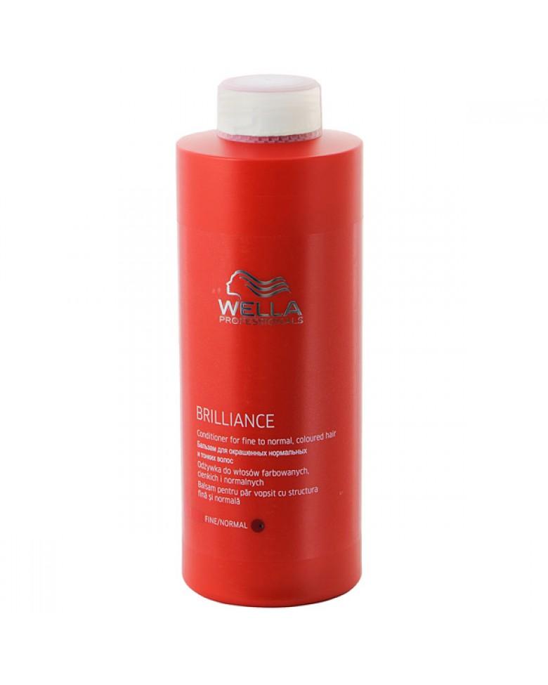 Wella Бальзам Brilliance Line для окрашенных нормальных и тонких волос, 1000 млkaar1301Для смягчения и увлажнения волос используйте Бальзам для окрашенных нормальных и тонких волос. Благодаря ухаживающей формуле, оказывается комплексное воздействие на волосы и кожу головы, активно поддерживается блеск и сияние цвета. Кроме того, используя средство для окрашенных волос, вы сделаете каждый волос более мягким и гладким, обеспечите антистатический эффект. Как результат, волосы становятся упругими и сильными, послушными, мягкими и шелковистыми. Теперь они надежно защищены от негативных внешних факторов. В составе имеются витамин E, катионоактивный полимер, бриллиантовая пыльца, глиоксиловая кислота, экстракт орхидеи, пантенол.