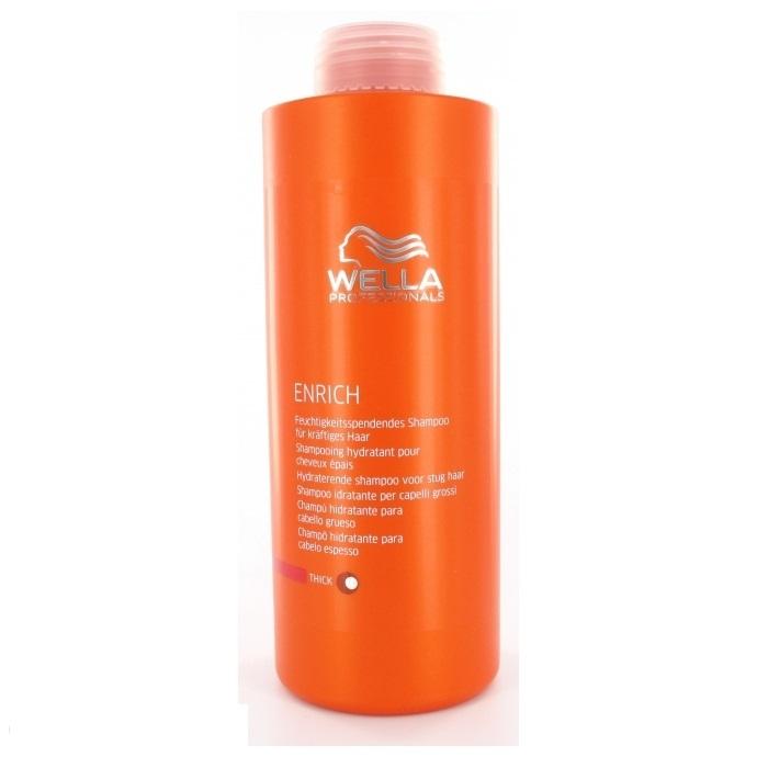 Wella Питательный шампунь Enrich Line для увлажнения жестких волос, 1000 млPT-81470902Для увлажнения жестких волос отлично подходит питательный шампунь от Wella. Он, обладая превосходными очищающими свойствами, интенсивно увлажняет волосы, питает их. Средство наполняет волосы силой, делает их здоровыми, упругими. Благодаря использованию этого шампуня, волосы насыщаются питательными элементами, витаминами. Кроме того, препарат обеспечивает вашим локонам надежную защиту от негативного влияния внешней среды.Как результат, даже волосы становятся блестящими и мягкими.В состав средства входят глиоксиловая кислота, эксклюзивная салонная формула, витамин Е, экстракт шелка и пантенол.