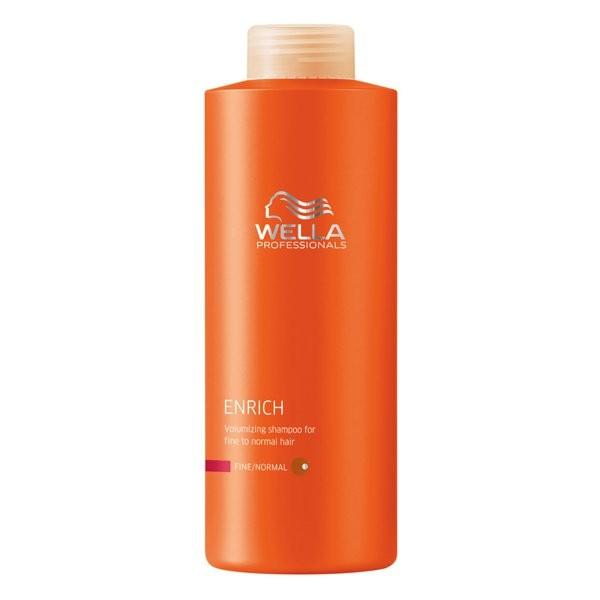 Wella Питательный шампунь Enrich Line для объема нормальных и тонких волос, 1000 мл12699Питательный шампунь от Wella придаст объем нормальным и тонким волосам. Экстракт шелка, входящий в состав, сделает волосы удивительно мягкими. Шампунь обеспечивает волосам оптимальный уход, свежесть, силу, объем, упругость. Данное средство буквально оживляет ослабленные волосы.