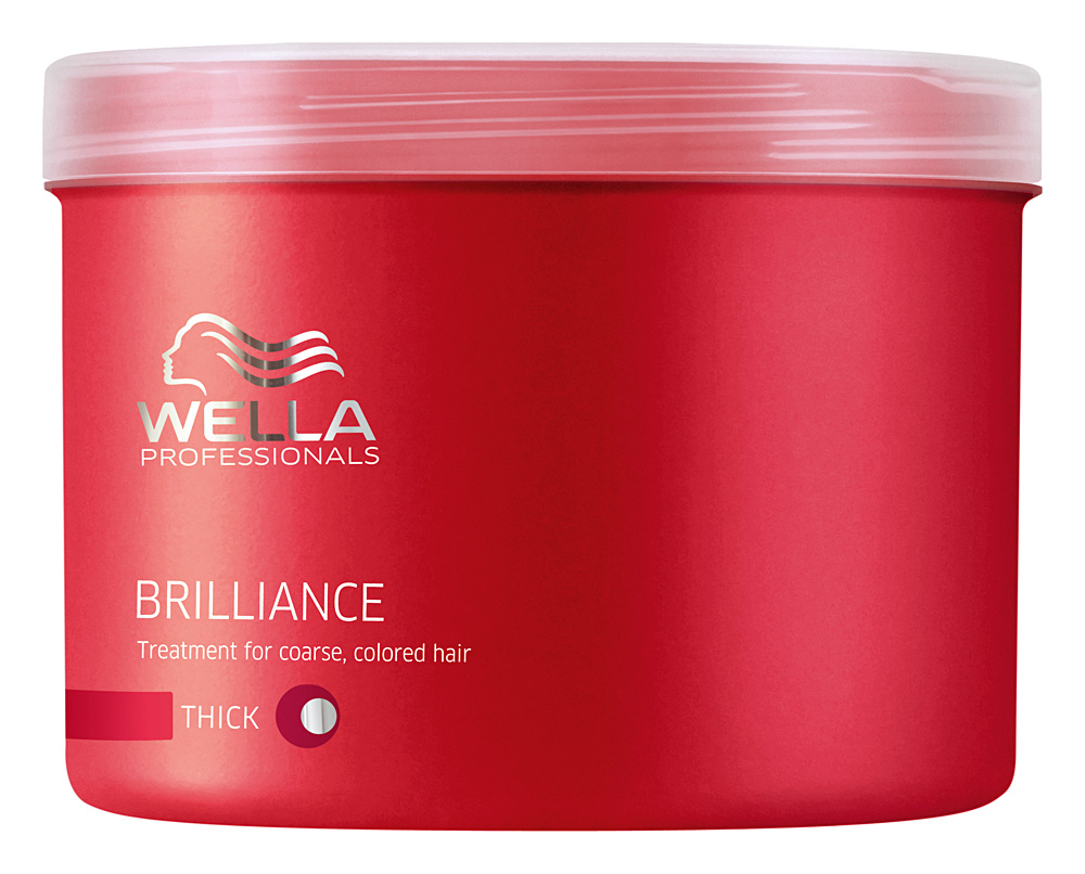 Wella Маска Brilliance Line для окрашенных жестких волос, 500 млFS-00897Для усиления блеска и яркости цвета используйте маску для окрашенных жестких волос. Помимо придания необыкновенного сияния и блеска, маска Wella, имеющая в составе бриллиантовую пыльцу, создает объем при укладке, отлично ухаживает за волосами после окрашивания, делает их более мягкими и послушными. Маска имеет нежную текстуру, благодаря чему легко наносится и отлично впитывается, наполняет волосы силой и упругостью.Результат: использование маски для окрашенных жестких волос приводит к усилению яркости и блеска, увеличению плотности структуры волоса.