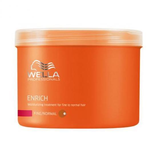 Wella Питательная крем-маска Enrich Line для нормальных и тонких волос, 500 млjf211110Для нормальных и тонких волос отлично подходит специальная питательная крем-маска от Wella, содержащая натуральные компоненты. Данное средство используют в тех случаях, когда необходимо придать локонам насыщенный блеск и эластичность. Маска восстанавливает поврежденные волосы любой длины, увлажняет их, и все благодаря входящему в состав экстракту шелка. Ваши волосы получают полноценный уход и защиту от внешнего негативного воздействия.Упругость, сила, сияющий цвет волос все это обеспечивает вашим волосам крем-маска Wella.