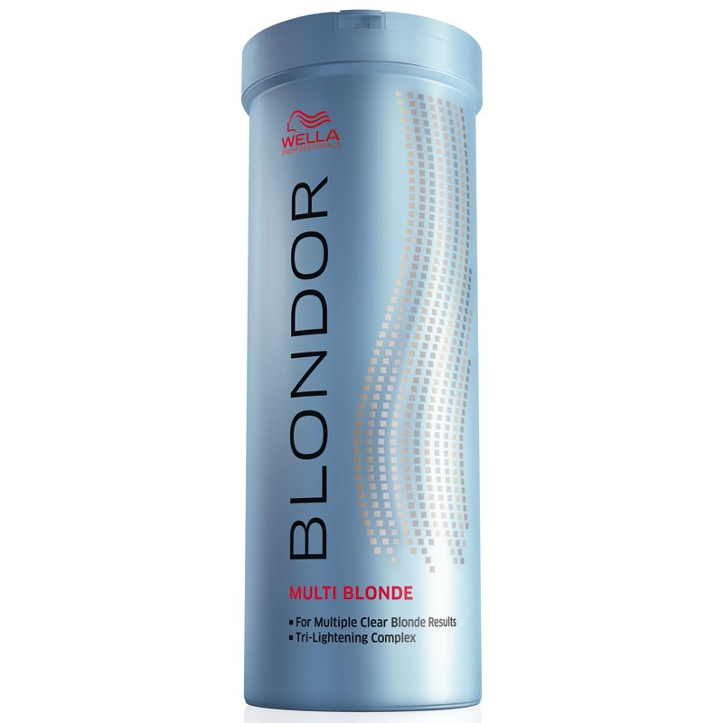 Wella Порошок для блондирования без образования пыли Blondor, 400 гMP59.4DWella BLONDOR Порошок для блондирования без образования пыли позволяет достичь идеального результата окрашивания без использования фольги. Предназначение порошка заключается в уровневом окрашивании или осветлении волос. Преимуществом средства есть то, что оно предназначено для многоцелевого применения в различных пропорциях смешивания. В составе основной компонент порошка это антижелтые молекулы. Они позволяют создать чистый, салонный вариант осветления волос. Активные компоненты на масляной основе, входящие в состав порошка, позволяют получать коже головы большое количество влаги и питания. Помимо этого они укрепляют структуру волоса, питая их изнутри. Для того чтобы достичь максимального результата от окрашивания нужно смешать порошок с эмульсией. Тогда волосы будут получать минимальное количество ожогов, сохраняя прежнюю густоту и силу.