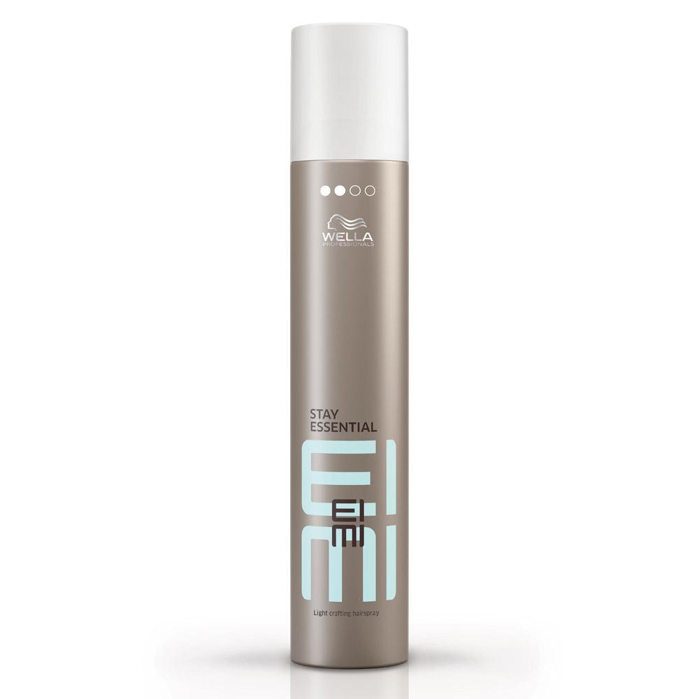 Wella Лак для волос легкой фиксации EIMI Stay Essential, 300 млSatin Hair 7 BR730MNЛак для волос со степенью фиксации 2 продлит эффект стайлинга, придаст локонам особый блеск.