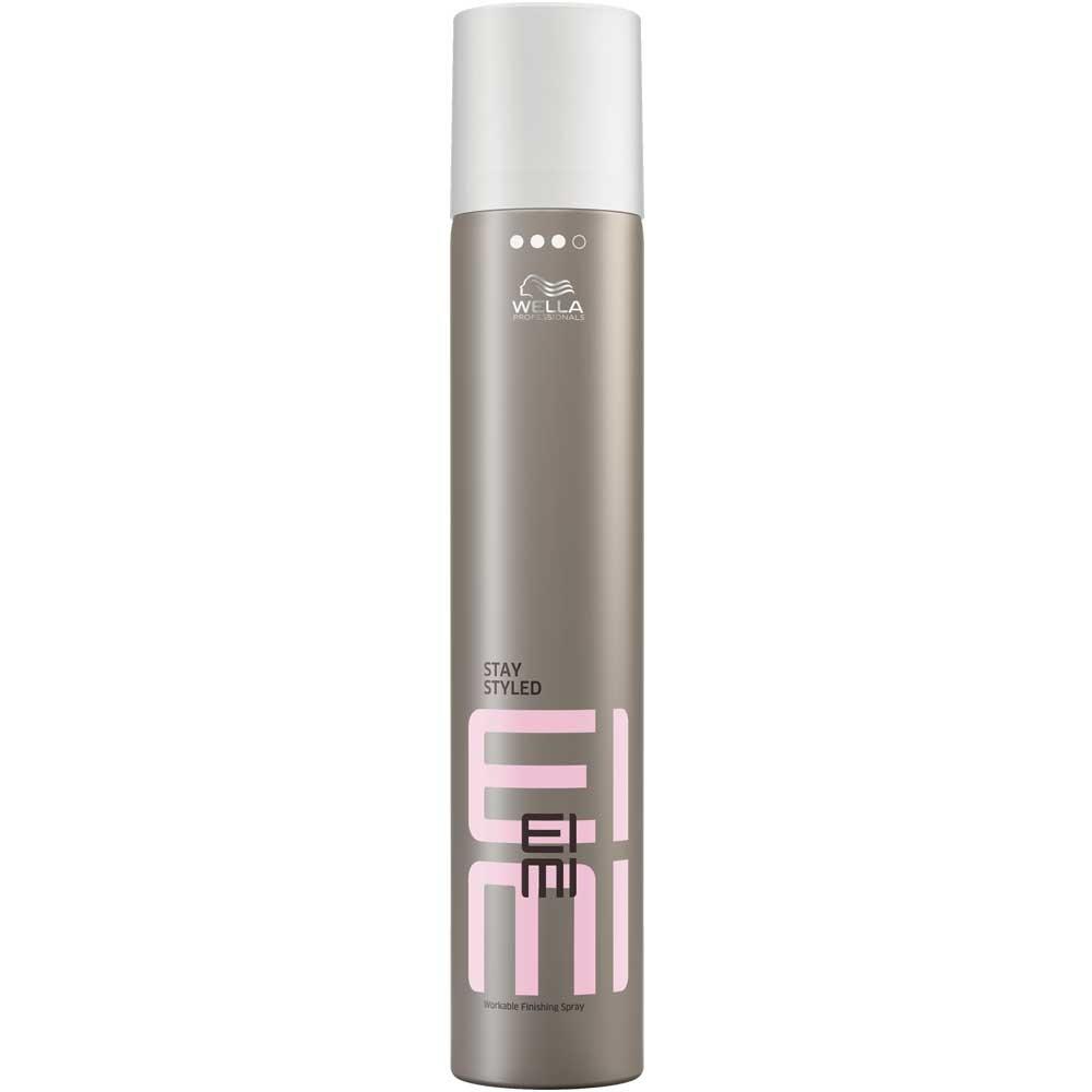 Wella Лак для волос сильной фиксации EIMI Stay Styled, 300 мл934290200Лак для волос 3 степени фиксации станет финальным штрихом при создании идеальной прически.