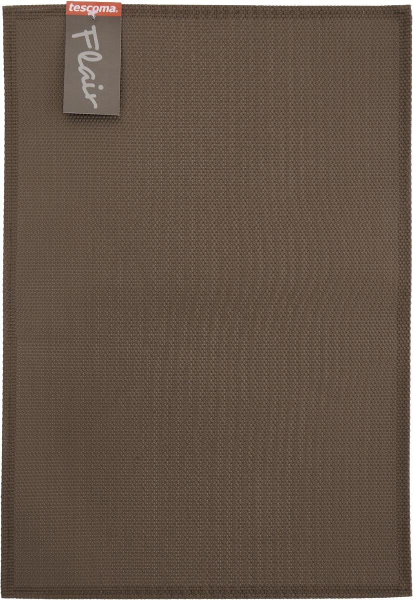 Салфетка сервировочная Tescoma Flair, цвет: коричневый, 45 х 32 смCLP446Сервировочная салфетка Tescoma Flair изготовлена из прочной синтетической ткани. Идеально подходит для сервировки стола, также может использоваться как подставка под горячее. Выдерживает максимальную температуру до 80°С. Элегантная сервировочная салфетка изысканно украсит вашу кухню. После использования ее достаточно протереть чистой влажной тканью или промыть под струей воды и высушить. Не мыть в посудомоечной машине.