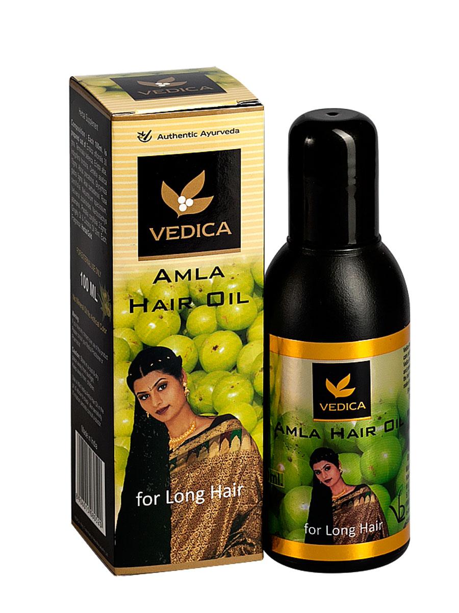 Vedica Масло для волос с Амлой, 100 мл116118Уникальная натуральная композиция растительных масел, амлы и растительных экстрактов останавливает выпадение и стимулирует рост волос. Восстанавливает поврежденную структуру волоса и укрепляет корни волос. Стимулирует кровообращение и клеточный обмен кожи головы. Придает волсам упругость игладкость. Рекомендуется как натуральное средство отвыпадения и для роста волос.