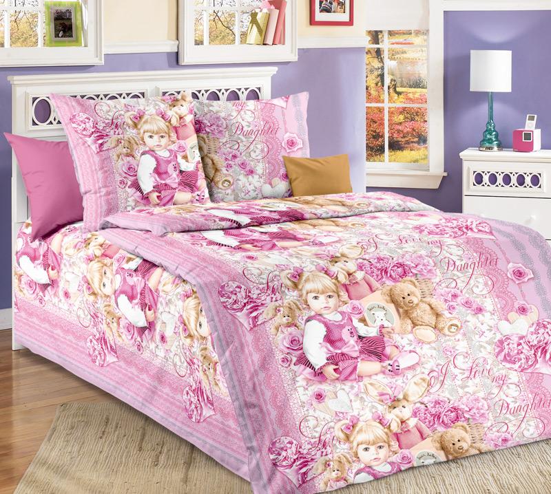 Комплект белья Текс-Дизайн Сьюзи, 1,5-спальный, наволочки 70х701100АСьюзи – нежная расцветка постельного белья в розовых тонах для девочек. Рисунок получился очень реалистичным. Сьюзи – девочка или кукла? На этот вопрос предстоит ответить самостоятельно. Бязь - хлопчатобумажная плотная ткань полотняного переплетения. Отличается прочностью и стойкостью к многочисленным стиркам. Бязь считается одной из наиболее подходящих тканей, для производства постельного белья и пользуется в России большим спросом.