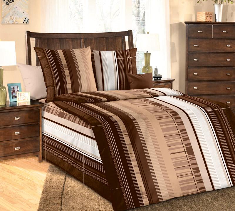 Комплект белья Белиссимо Маредо 1, 1,5-спальное, наволочки 70х70, цвет: темно-коричневый, бежевый, белыйS03301004Великолепное постельное белье Белиссимо Маредо 1 выполнено из высококачественной бязи (100% хлопок) в нежно-кофейной цветовой гамме. Комплект состоит из пододеяльника, простыни и двух наволочек. Бязь - хлопчатобумажная плотная ткань полотняного переплетения. Отличается прочностью и стойкостью к многочисленным стиркам. Бязь считается одной из наиболее подходящих тканей, для производства постельного белья и пользуется в России большим спросом.
