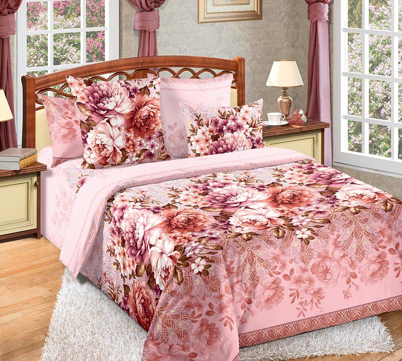 Комплект белья Белиссимо Лукреция, 2-спальный, наволочки 70х70, цвет: розовый, красный391602Великолепное постельное белье Белиссимо Лукреция выполнено из высококачественной бязи (100% хлопок) и украшено роскошным цветочным рисунком. Комплект состоит из пододеяльника, простыни и двух наволочек. Бязь - хлопчатобумажная плотная ткань полотняного переплетения. Отличается прочностью и стойкостью к многочисленным стиркам. Бязь считается одной из наиболее подходящих тканей, для производства постельного белья и пользуется в России большим спросом.