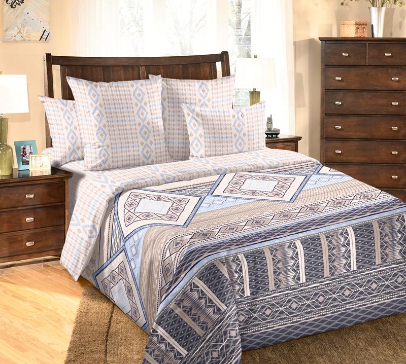 Комплект белья Текс-Дизайн Финляндия 1, 2-спальный, наволочки 70х70, цвет: слоновая кость, бежевый, синий80621Великолепное постельное белье Текс-Дизайн Финляндия 1 выполнено из высококачественного перкаля (100% хлопок) и украшено изящным, эксклюзивным рисунком. Комплект состоит из пододеяльника, простыни и двух наволочек. Перкаль - это тонкая и легкая хлопчатобумажная ткань высокой плотности полотняного переплетения, сотканная из пряжи высоких номеров. При изготовлении перкаля используются длинноволокнистые сорта хлопка, что обеспечивает высокие потребительские свойства материала. Несмотря на свою утонченность, перкаль очень практичен - это одна из самых износостойких тканей для постельного белья.