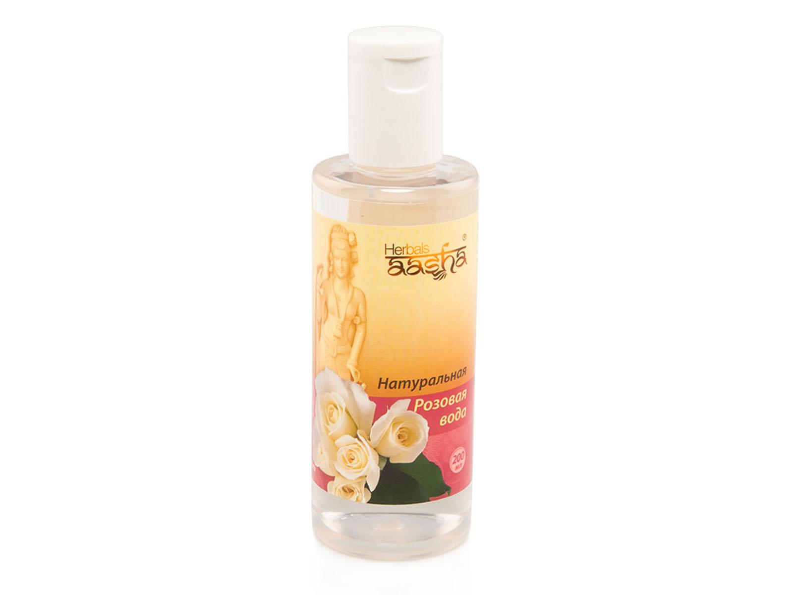 Aasha Herbals Натуральная Розовая вода, 200 млAC-2233_серыйТонизирует и дает ощущение свежести. Обладает выраженным охлаждающим действием, успокаивает кожу. Снимает отечность, устраняет «мешки» и темные круги под глазами. Можно применять как основу для косметических масок. Для любого типа кожи