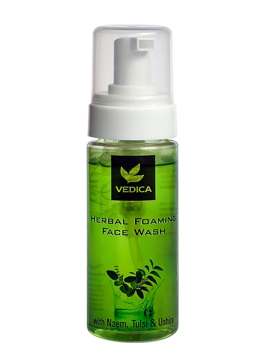 Vedica Пенка для умывания с Нимом, Тулси и Ветивером, 150 мл72523WDОбладает выраженными антибактериальным и антисептическим свойствами. Освежает и охлаждает кожу лица. Очищает кожу, придает ей свежий, здлоровый вид. Для любого типа кожи.