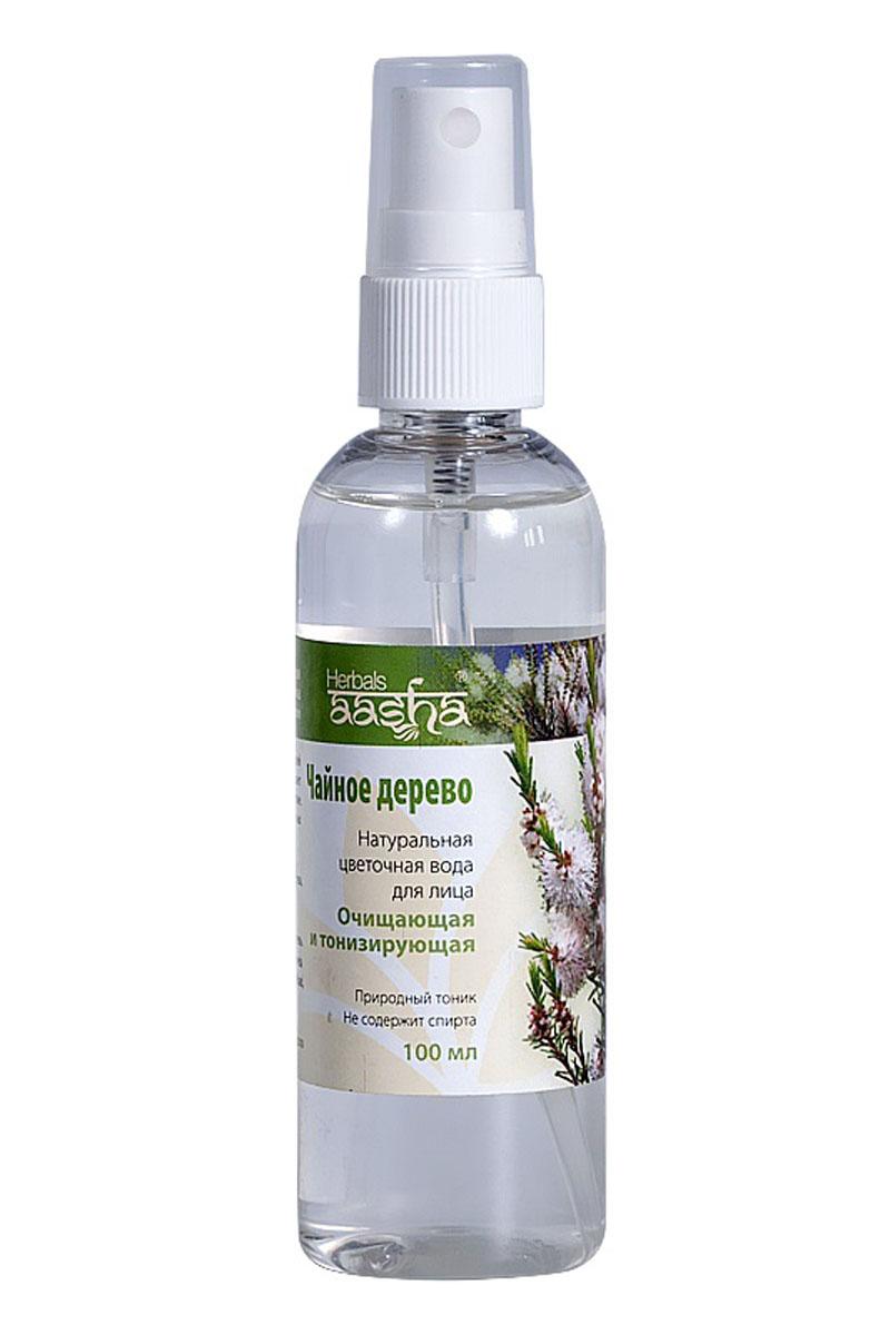 Aasha Herbals Цветочная вода для лица Чайное дерево, 100 млFS-54114Очищает и освежает кожу, оказывает антибактериальное и противомикробное действие. Очищает поры, регулирует работу сальных желез. Подходит для снятия макияжа. Рекомендуется для жирной и проблемной кожи.