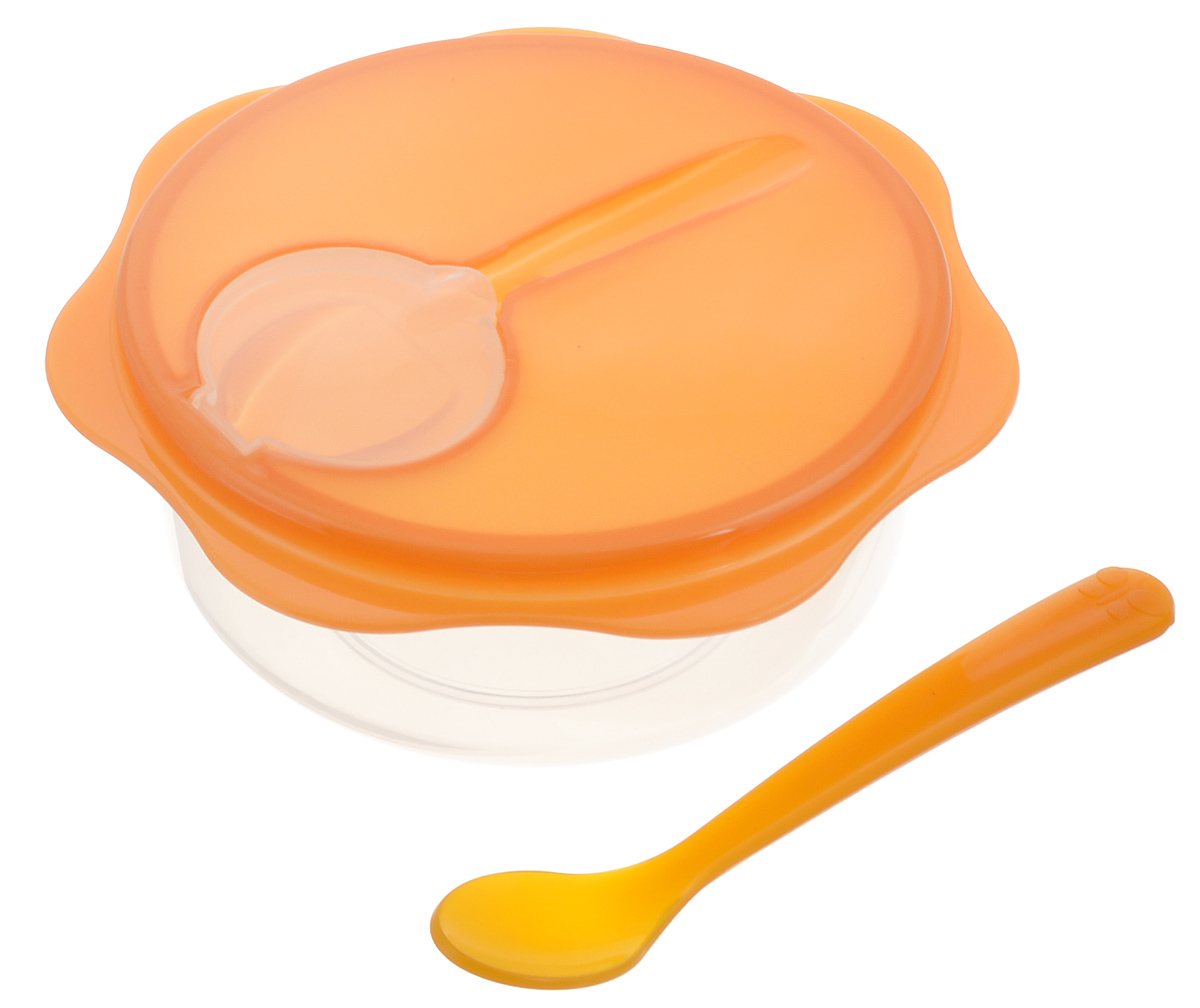 Набор дорожный Tescoma Bambini, детский, цвет: оранжевый, 3 предмета668140_оранжевыйДорожный набор Tescoma Bambini прекрасно подходит для бережного хранения и подачи детского питания, как в дороге, так и в домашних условиях. Набор состоит из миски, герметично закрывающейся крышки и ложечки. Изделия выполнены из высококачественного пластика безвредного для здоровья. Детская ложка гигиенически хранится в крышке. Миска подходит для использования в микроволновой печи (без крышки), холодильнике или морозильной камере. Можно мыть в посудомоечной машине. Диаметр миски: 12 см. Высота миски (без учета крышки): 5,5 см. Длина ложки: 14 см.