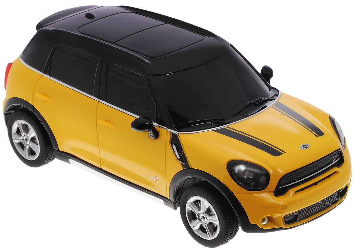 """Радиоуправляемая модель Rastar """"Mini Cooper S Countryman"""" предназначена для тех, кто любит роскошь и высокие скорости. Маневренная и реалистичная уменьшенная копия реального авто выполнена в точной детализации в масштабе 1:24. Управление машинкой происходит с помощью пульта. Машинка двигается вперед и назад, поворачивает направо, налево и останавливается. Колеса игрушки прорезинены и обеспечивают плавный ход, машинка не портит напольное покрытие. Пульт управления работает на частоте 40 MHz. Радиоуправляемые игрушки способствуют развитию координации движений, моторики и ловкости. Ваш ребенок надолго будет увлечен игрой с моделью, придумывая различные истории и устраивая соревнования. Порадуйте его таким замечательным подарком! Пульт управления работает от 2 батареек напряжением 1,5V типа АА, машина работает от 3 батареек напряжением 1,5V типа АА (не входят в комплект)."""