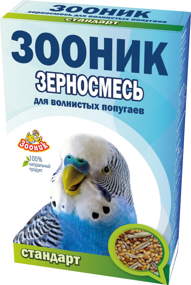 Корм Зооник Стандарт, для волнистых попугаев, 500 г4001Корм Зооник Стандарт - полноценный ежедневный корм для волнистых попугаев, состоящий из отборных зерновых культур, содержит все важнейшие вещества, богат витаминами и минералами. Корм оптимально сбалансирован и обеспечит вашего питомца необходимыми питательными элементами для здоровой жизни.
