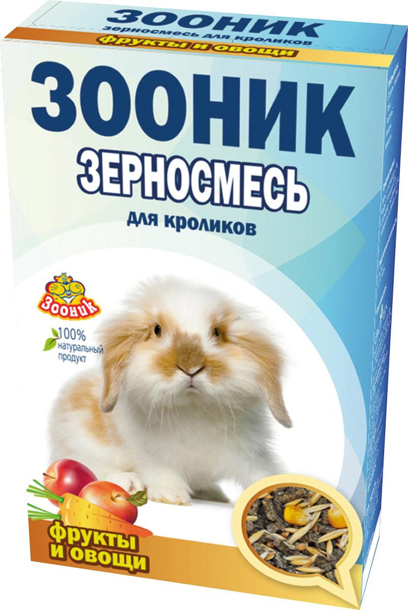 Корм Зооник Стандарт, для кроликов, с фруктами и овощами, 400 г0120710Корм Зооник Стандарт С Фруктами и овощами - полноценный ежедневный корм для декоративных кроликов, состоящий из отборных зерновых культур с добавлением фруктов и овощей, содержит все важнейшие вещества, богат витаминами и минералами для полноценного здоровья вашего питомца.
