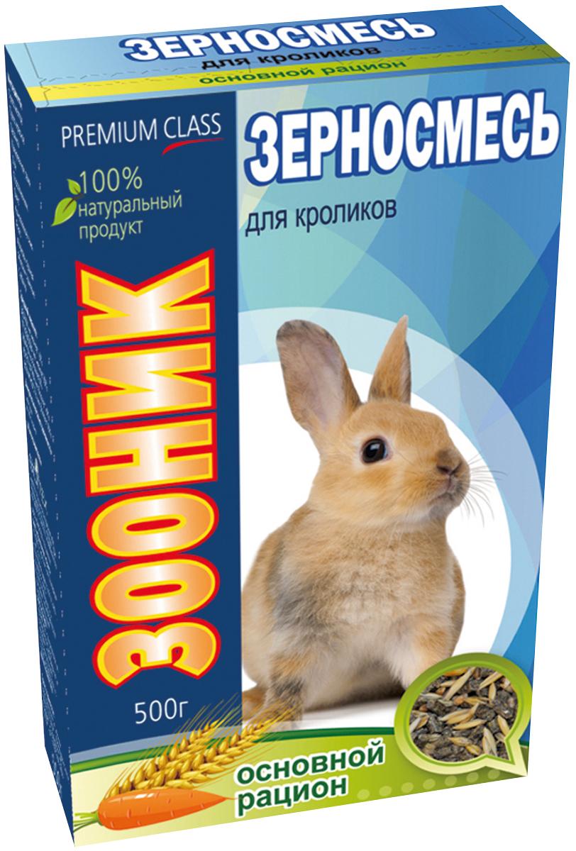 Корм Зооник Премиум. Основной рацион, для кроликов, 400 г корм лакомство для кроликов праздничный обед 270 г