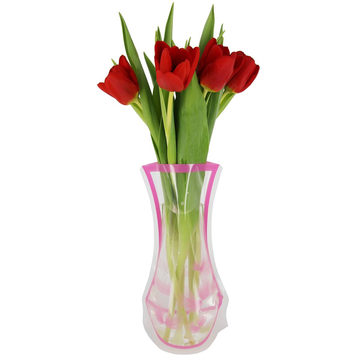 Ваза МастерПроф Розовые лепестки, пластичная, 1,2 лFS-80423Пластичная ваза Розовые лепестки легко складывается, удобно хранится - занимает мало места, долго служит. Всегда пригодится дома, в офисе, на даче, для оформления различных мероприятий. Отлично подойдет для перевозки цветов, или просто в подарок.Инструкция: 1. Наполните вазу теплой водой;2. Дно и стенки расправятся;3. Вылейте воду;4. Наполните вазу холодной водой;5. Вставьте цветы.Меры предосторожности:Хранить вдали от источников тепла и яркого солнечного света. С осторожностью применять для растений с длинными стеблями и с крупными соцветиями, что бы избежать опрокидывания вазы.