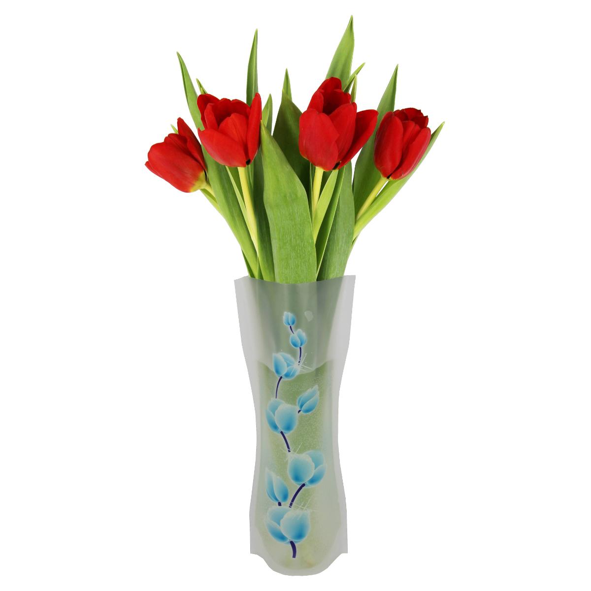 Ваза МастерПроф Синие пионы, пластичная, 1 лFS-91909Пластичная ваза Синие пионы легко складывается, удобно хранится - занимает мало места, долго служит. Всегда пригодится дома, в офисе, на даче, для оформления различных меропритятий. Отлично подойдет для перевозки цветов, или просто в подарок.Инструкция: 1. Наполните вазу теплой водой;2. Дно и стенки расправятся;3. Вылейте воду;4. Наполните вазу холодной водой;5. Вставьте цветы.Меры предосторожности:Хранить вдали от источников тепла и яркого солнечного света. С осторожностью применять для растений с длинными стеблями и с крупными соцветиями, что бы избежать опрокидывания вазы.