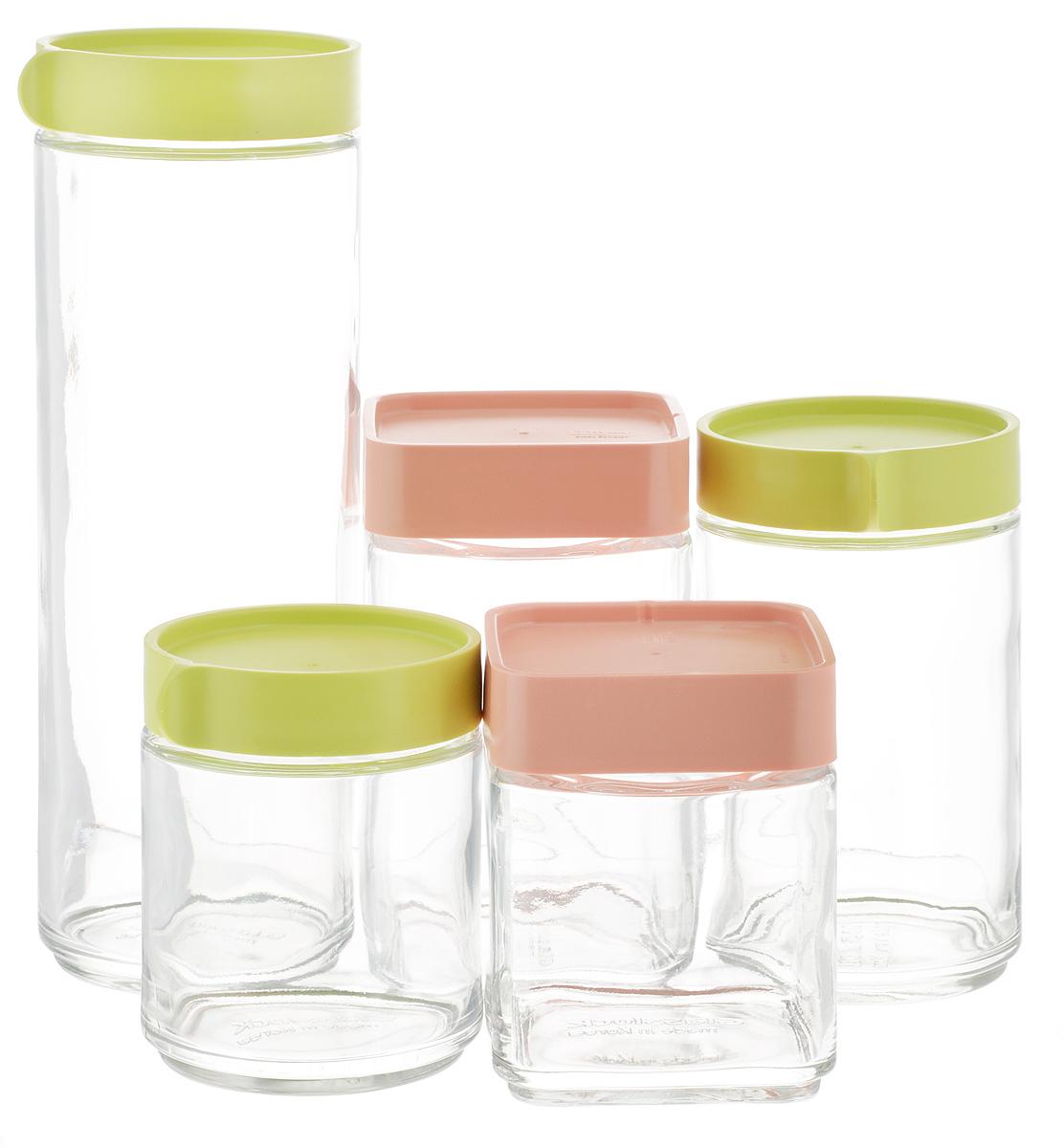 Набор емкостей для сыпучих продуктов Glasslock, 3 шт + ПОДАРОК: Набор емкостей для сыпучих продуктов Glasslock, 2 шт чаша для свч glasslock 330 мл