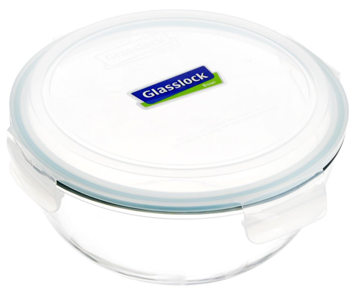 Контейнер для хранения продутов Glasslock, цвет: прозрачный, светло-бирюзовый, 4 л. MBCB-400VT-1520(SR)Круглый контейнер Glasslock изготовлен из высококачественного закаленного ударопрочного стекла. Герметичная крышка, выполненная из пластика и снабженная уплотнительной резинкой, надежно закрывается с помощью четырех защелок. Стеклянная посуда нового поколения от Glasslock экологична, не содержит токсичных и ядовитых материалов; превосходная герметичность позволяет сохранять свежесть продуктов; покрытие не впитывает запах продуктов; имеет утонченный европейский дизайн - прекрасное украшение стола.Подходит для мытья в посудомоечной машине, хранения в холодильных и морозильных камерах, а также можно использовать в микроволновых печах.Размер контейнера (с учетом крышки): 25,5 х 25,5 х 14 см.